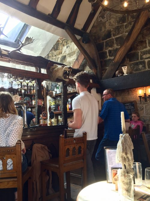 At the bar, House of Trembling Madness, York